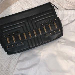 Handbags - LUANA ITALY leather studded Clutch